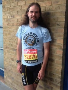 Pete before the London Marathon