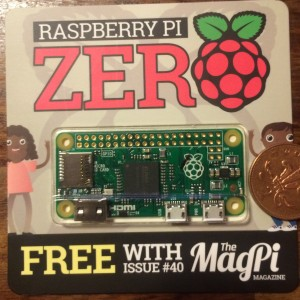 Pi Zero, 2p for scale, not included with prize.