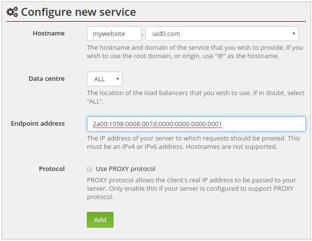 how to find ipv4 address of a website